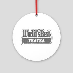 WB Grandpa [Tamil] Ornament (Round)